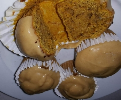 Pumpkin Cupcake with Ginger Icing