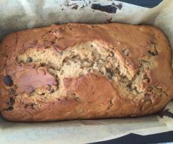 Banana bread with sultanas