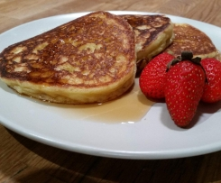 Fluffy Gluten Free Pancakes with Dairy Free Option.