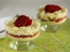 Sweet risotto with strawberries, pistachios and limoncello