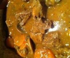 Beef, Carrot & Mushroom Casserole