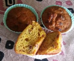 Fruit and pumpkin muffins, lovely and moist