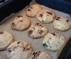 Fresh mint, dark chocolate and sea salt cookies, thanks to Jordan Rondel