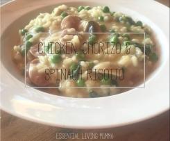 Chicken, Chorizo & Spinach Risotto - Essential Living Mumma