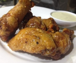 The Best Buffalo wings with Blue Cheese Sauce