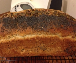 Wheat, Rye, Quinoa Bread with Linseeds