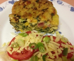 Silverbeet (Spinach) and Egg Pie