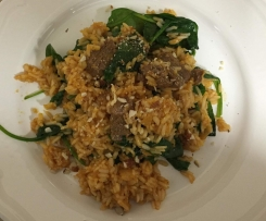 Lamb and Spinach Biryani