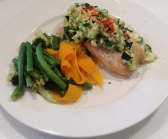 Varoma Steamed Salmon with Zucchini Salad & Vegetables