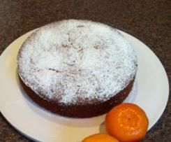 Mandarin, Macadamia and Polenta Cake
