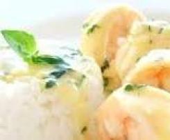 Hillbilly's Creamy Garlic Prawns