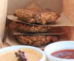 Oatey Burgers with Chilli Lime Dipping Sauce