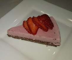 Gluten Free, Dairy Free Raw Strawberry Cheesecake