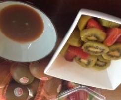 Poached kiwifruit