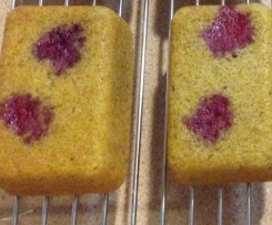 Mini Banana & Raspberry Bread Loaves