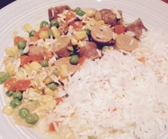 Curried Sausages