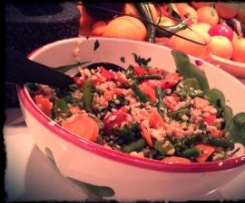 Brown Rice  Salad with Asian Dressing