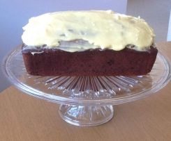 Banana & Chocolate Cake with Cream Cheese Icing