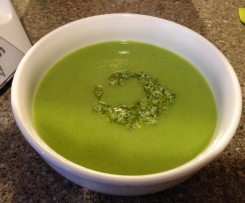 Green Pea & Fennel Soup with Mint Pistou
