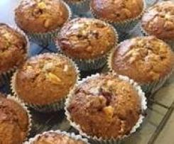 Raspberry & white chocolate gluten free muffins