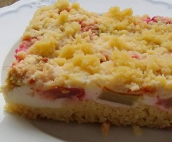 Juicy German rhubarb cake