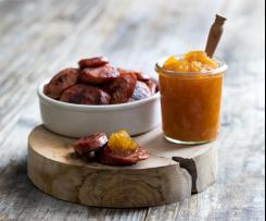 Spiced pear jam and chorizo