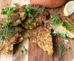 Chickpea & Zucchini Fritters