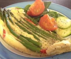 Breakfast asparagus frittata
