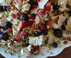 Persian Pavlova (Deconstructed)