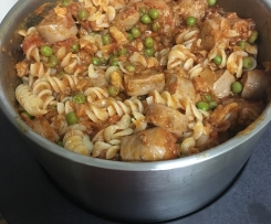 Sausage and pasta surprise