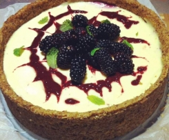 Blackberry Cheesecake (sugar and grain free)