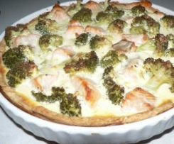 Salmon and Broccoli - Quiche