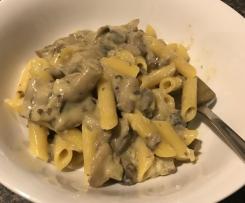 Vegan Creamy Mushroom and Garlic Pasta Sauce