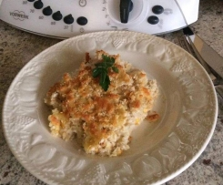Crunchy Cheese topped Tuna Mornay