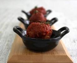 Baharat spiced meatballs