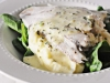 Barramundi with Mash Potato and Lemon Butter Sauce
