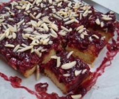 Almond and Cherry Bars