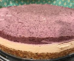 Raw Blueberry Cashew Cheesecake (Dairy Free)