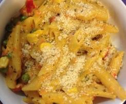 Herb and Garlic Pasta with vegies