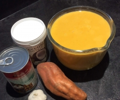 Creamy Curried Kumara & Coconut Soup