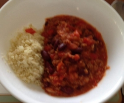Vegetarian Chilli Con Carne (with optional Cauliflower Rice) [suitable for 5:2]