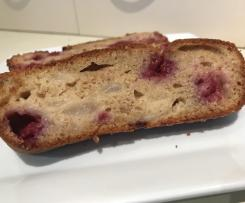 Gluten Free Pear and Raspberry Bread