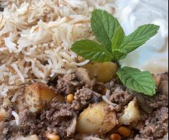 Rima's Lebanese Mushroom and mince with rice