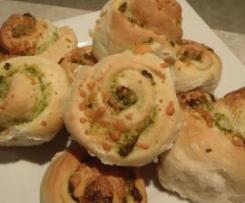 Spinach, Feta & Garlic Scrolls