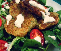 Cauliflower Fritters with Mint Yoghurt Dip