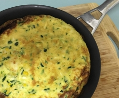 FRITTATA with Zucchini, Corn and Haloumi
