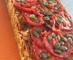 vegan chickpea loaf