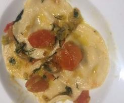 Salmon Ravioli (agnelotti) Pasta with Butter & sage sauce