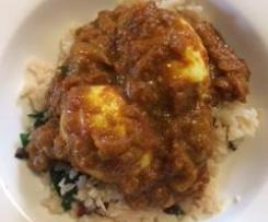 LCHF egg curry