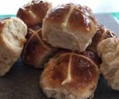 White Chocolate and Apricot Hot Cross Buns